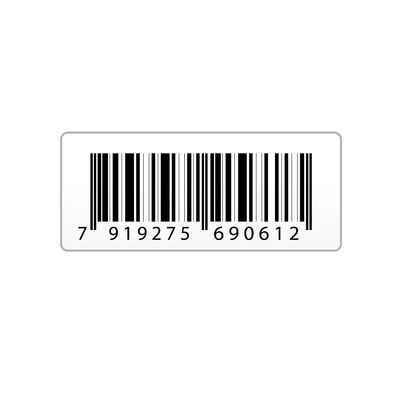 Illustration Of Vector Bar Code Sticker On An Isolated Background