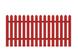 New Red Fence