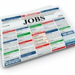 Search Job Newspaper With Advertisments On White Isolated Background 3D