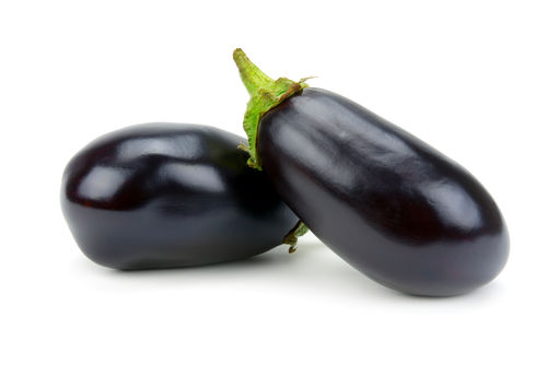 Two Aubergine Isolated On A White Background