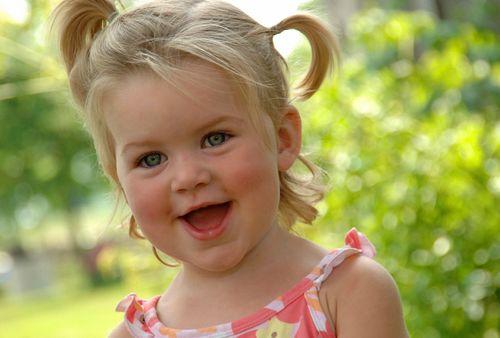 Very Happy Little Girl